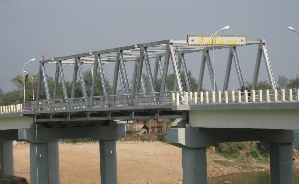 High Stiffness Steel Truss Bridge Professional With Double lanes
