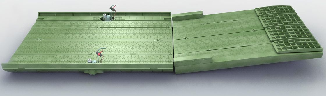 Self - Propelled Military Emergency Pontoon Bridge / Ribbon Pontoon Bridge For Ferry Rafts