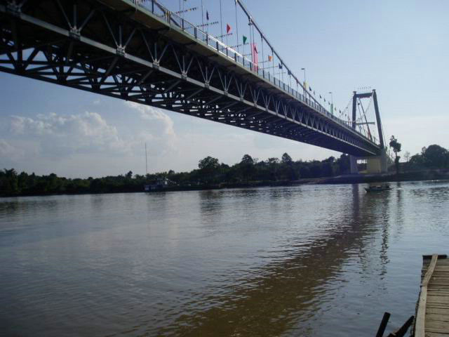 Heavy Loading Steel Cable Suspension Bridge High strength For highway